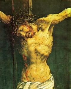 Isenheim altar; Crucifixion, detail