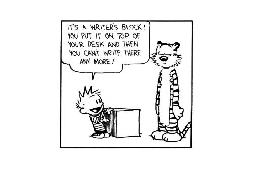Calvin's writer's block